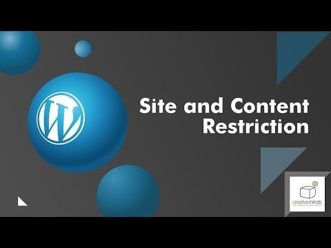 Site and Content Restriction Plugin for WordPress