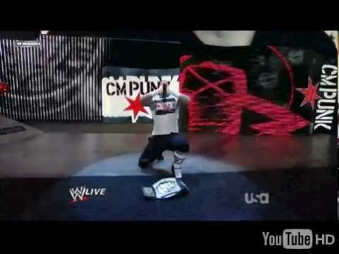 Cm Punk's LAST Entrance In 2011 With WWE CHAMPIONSHIP!Best EVER!
