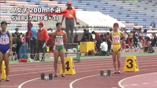 5組 風: -0.8 順位 レーン ナンバー 氏 名 所属団体名 記録 1 8 40 水谷 陽子...