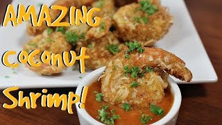 SUPER EASY Coconut Shrimp Recipe!! DELICIOUS!!