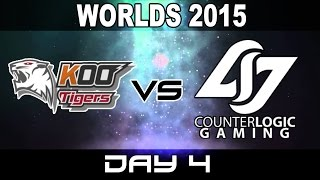 KOO vs CLG - 2015 World Championship Week 1 Day 4 - KOO Tiger vs Counter Logic Gaming