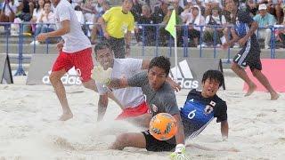 【ビーチサッカー国際親善試合】9/17 日本代表vsタヒチ代表第1戦ダイジェスト