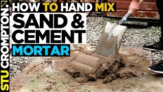 How to Mix Sand and Cement for bricklaying step by step