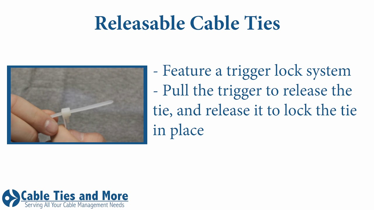 c5c629aa0bdb Releasable Nylon Cable Ties With Trigger Lock.