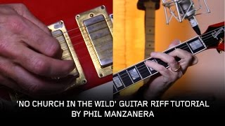 Phil Manzanera - How to play the riff from