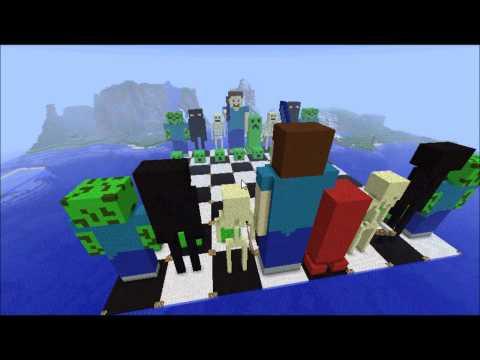 Minecraft Themed Chess set