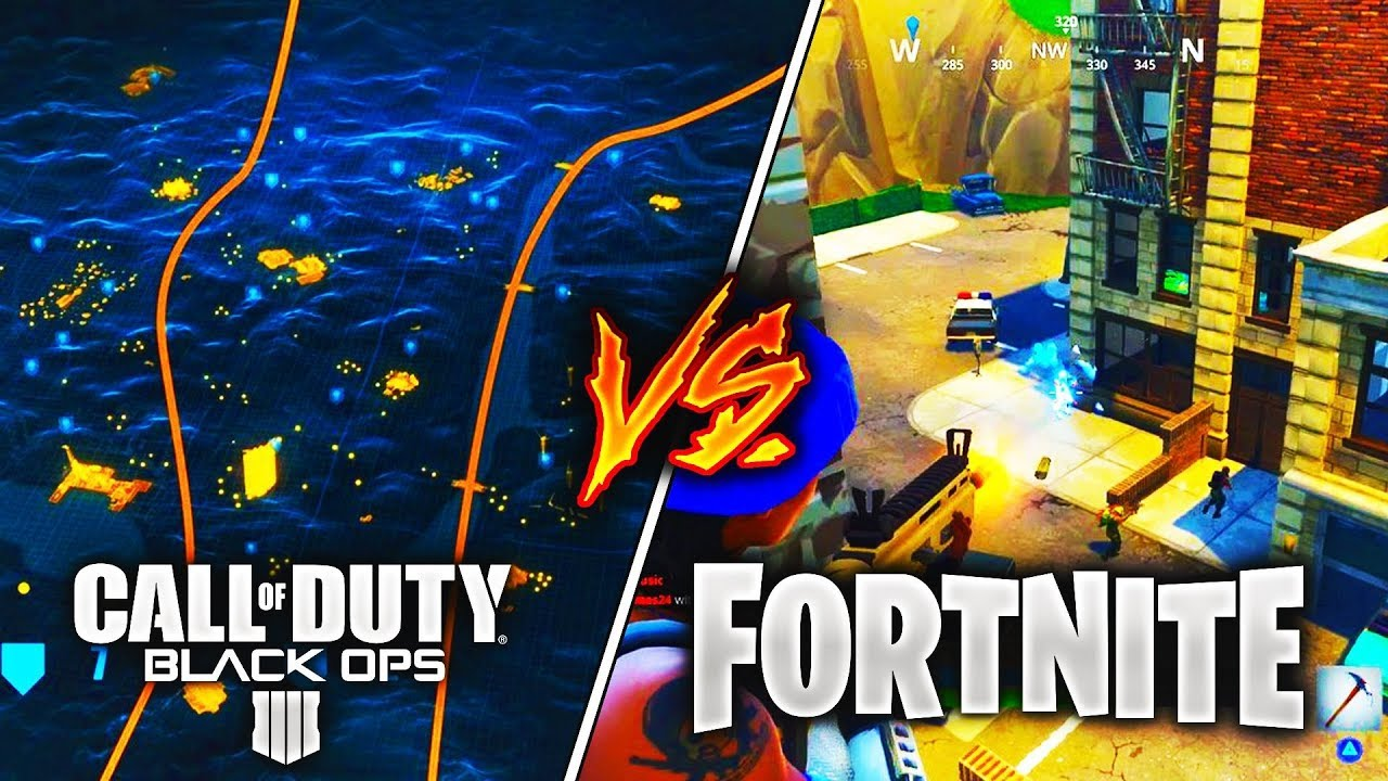 call of duty black ops 4 blackout battle royale vs fortnite battle royale cod bo4 reveal - black ops 4 vs fortnite player count