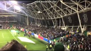 Bosnia fans during minute of silence - Republic of Ireland vs. Bosnia and Herzegovina - 16/11/2015