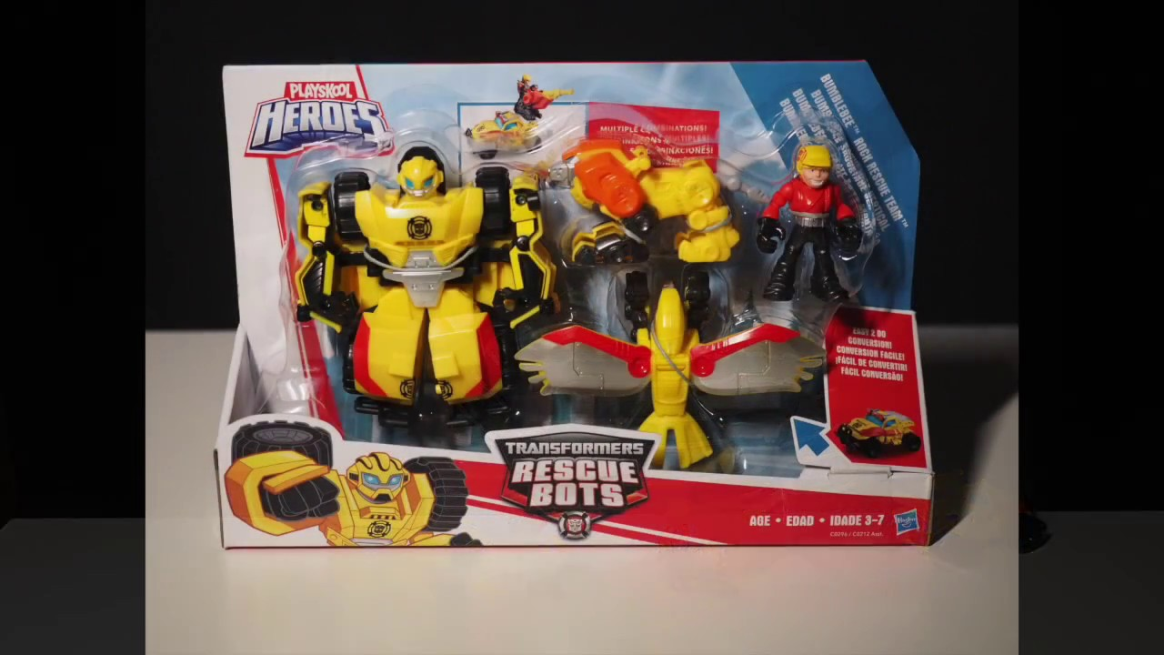 Playskool Heroes Transformers Rescue Bots Bumblebee Rocy Rescue Team New