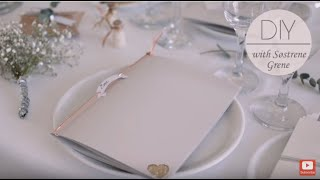 DIY: Menu card and wedding table decorations by Søstrene Grene