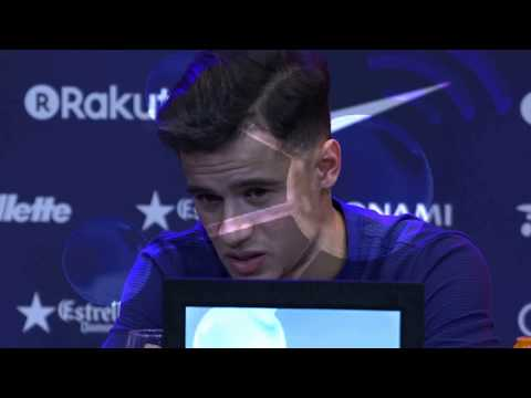 Philippe Coutinho press conference as FC Barcelona player