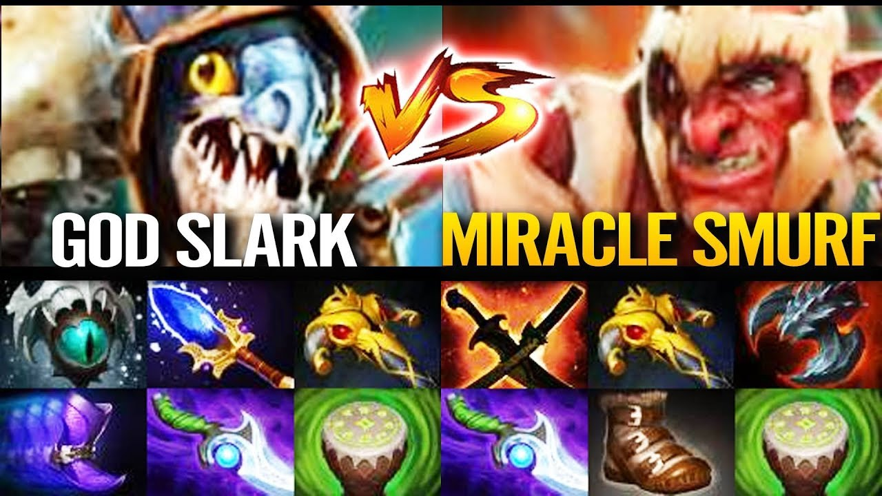 200IQ SLARK Scepter 99% Counter Troll Warlord – Good bye  Miracle!! Dota 2