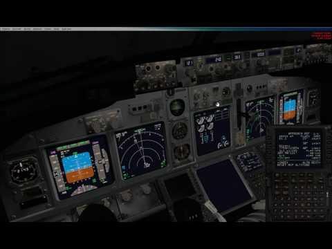 FSX PMDG 737 NGX Brussels to Copenhagen Landing