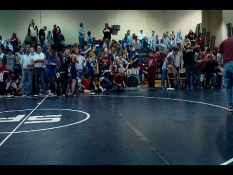 Blaine's first match at the St Francis Middle school tounament