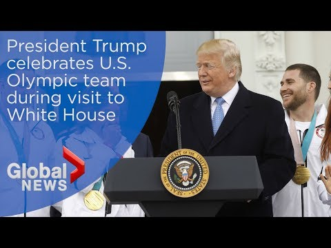 WATCH LIVE: Trump welcomes U.S. Olympians to White House