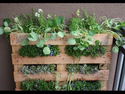 Paletten Garten Vertical Gardening Hochbeet Selber Bauen Europaletten Paletten