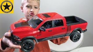 BRUDER Toys DODGE RAM for KIDS review 😊 ✅ test DRIVE by JACK👍