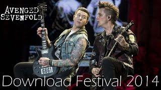 Avenged Sevenfold Download Festival 2014 with Interview