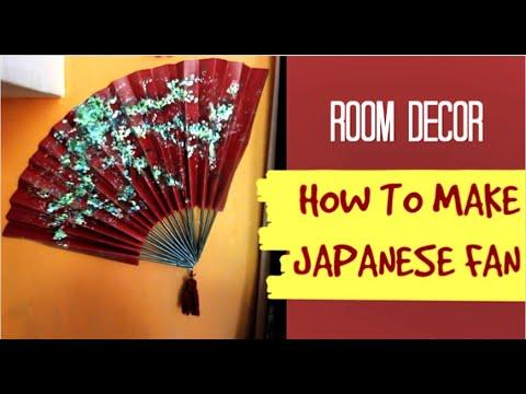 HOW TO MAKE JAPANESE FAN | DIY | ROOM DECOR