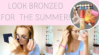 MAKEUP | How To Do Summer Bronzed Makeup | Katie Jane
