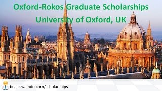 UK - University of Oxford Rokos Graduate Scholarship #20150123