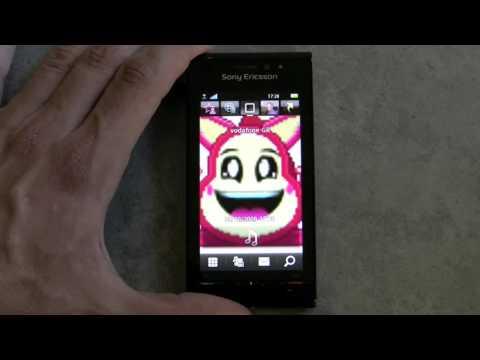 Sony Ericsson Satio hands on - English menu (Greek)