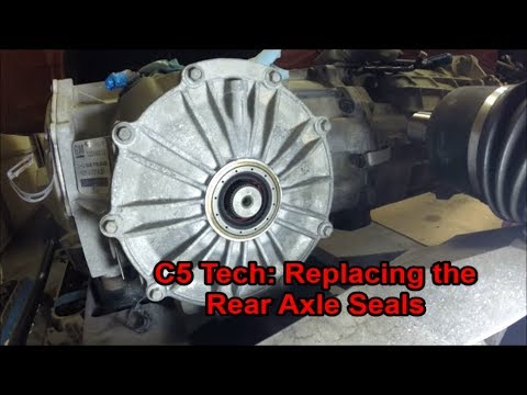 C5 Tech: Replacing the Rear Axle Seals