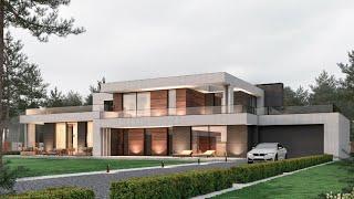 Уникальный Проект дома в стиле минимализма, Проект виллы МАГРИН Строительство домов под ключ | M-390