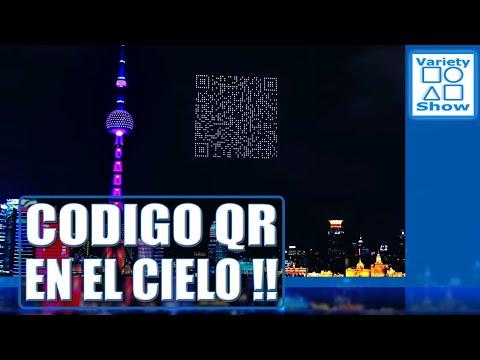 1.500 drones dibujan sobre el cielo de Shanghai un gigantesco código QR