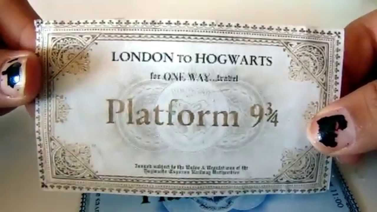 graphic about Hogwarts Express Printable named Hogwarts 9 3/4 Teach Ticket - Do-it-yourself