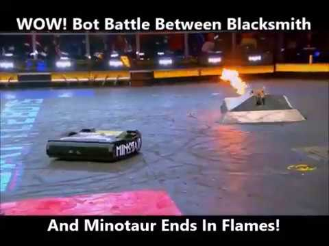 Battle Bots - Blacksmith Blows Up As Minotaur Claims Victory