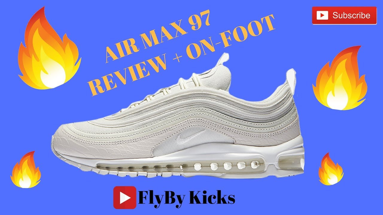 All White Air Max 97 Review On Foot Youtube