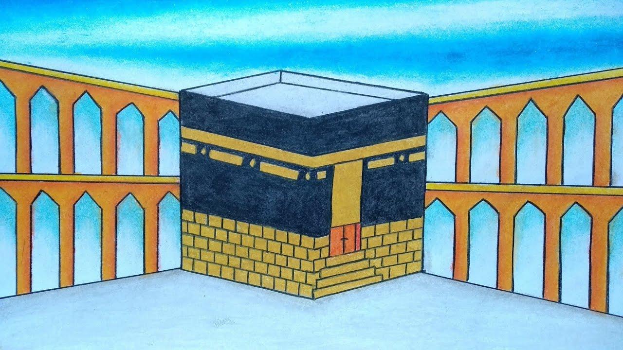 Menggambar ka'bah    Menggambar masjidil haram    Menggambar qiblat