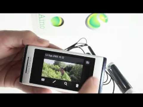 Sony Ericsson Aino User Interface 8MP camera