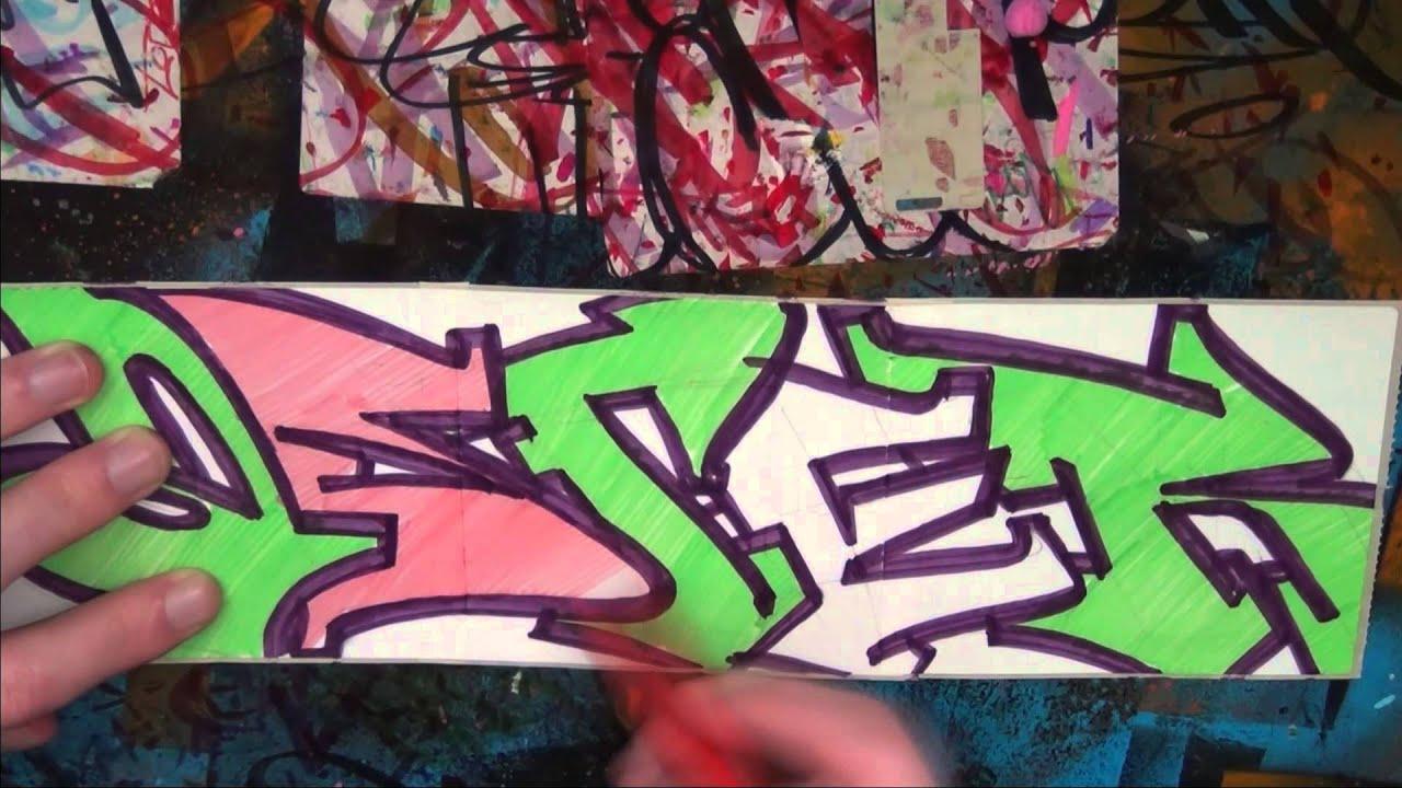 Как сделать граффити открытку