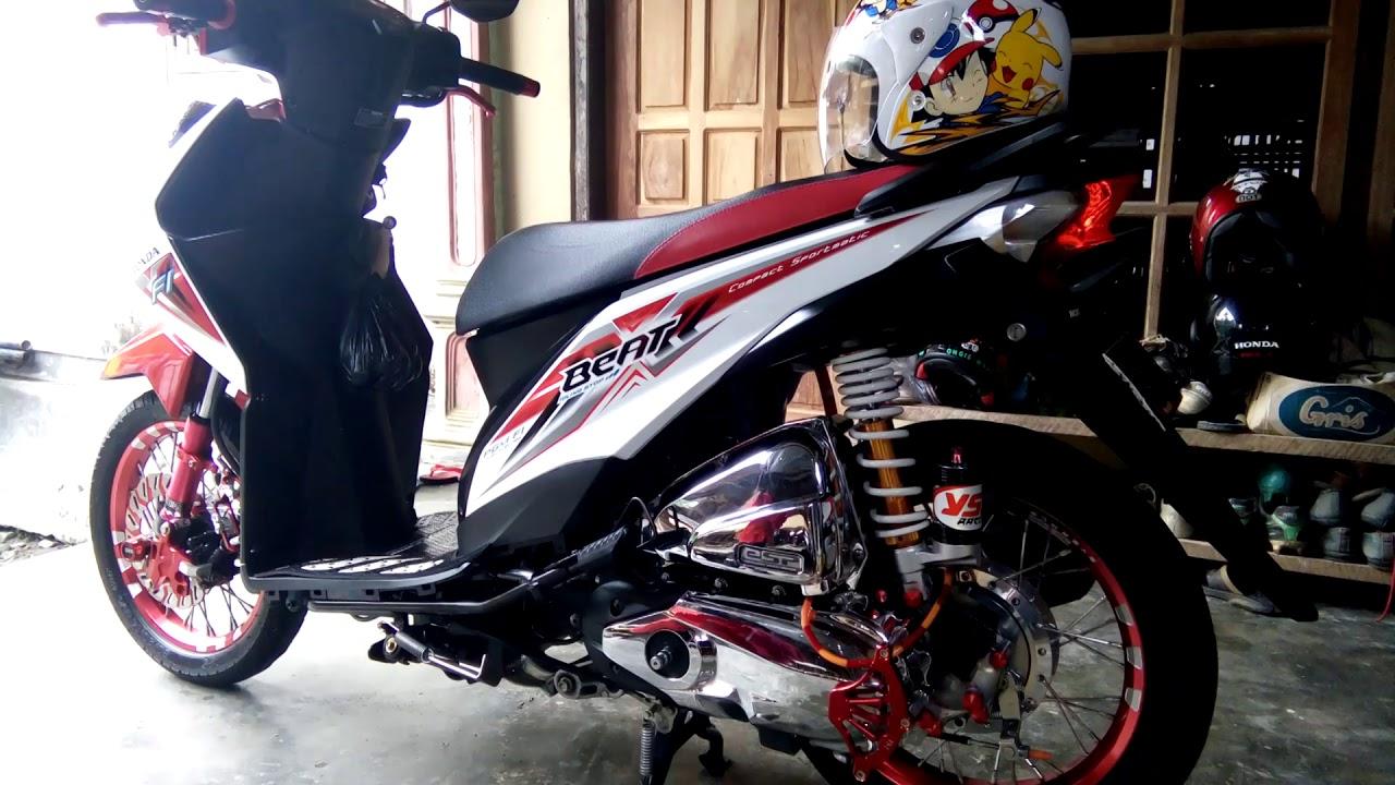 Modifbiker Gambar Modifikasi Motor Beat Merah 2019