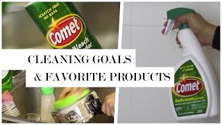 Cleaning Goals + Favorite Cleaning Products