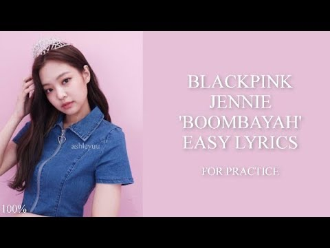 BLACKPINK - 'BOOMBAYAH' JAP VER. JENNIE [ENGLISH RAP CUT EASY LYRICS PRACTICE]