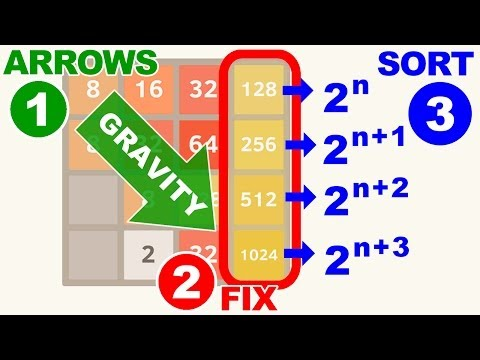 [2048] Three Simple Tricks to Win 2048 Tile Puzzle Game.