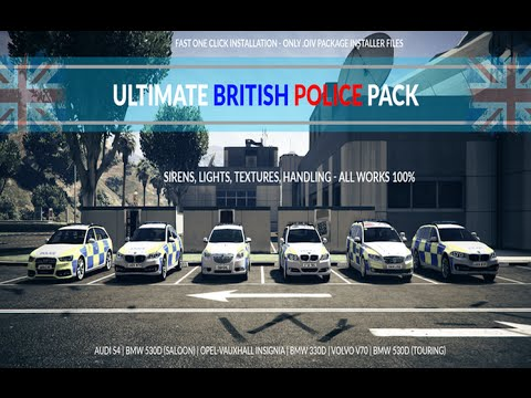 GTA 5 Mods - Ultimate British Police Pack 1 0