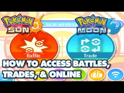 How To Access Wondertrade, Battles, And Other Online Features In Pokémon  Sun And Moon