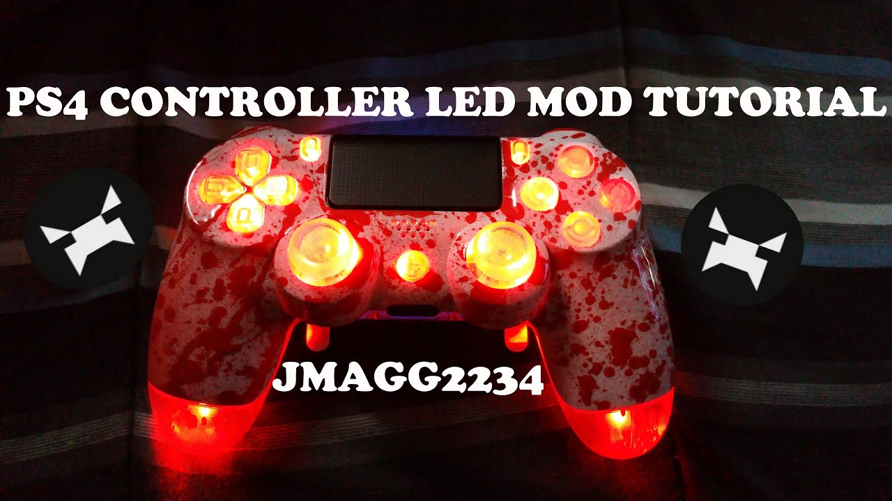 Ps4 controller Led mod ANALOG STICKS FACE BUTTONS SHARE AND OPTION