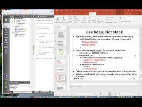 Alex X. Liu Software Design Pattern Course 34: GUI with QT Example 3