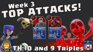 TH 10 and 9 Insane Attacks | CWL L Wk 3 EG vs Why so Golem | Clash of Clans