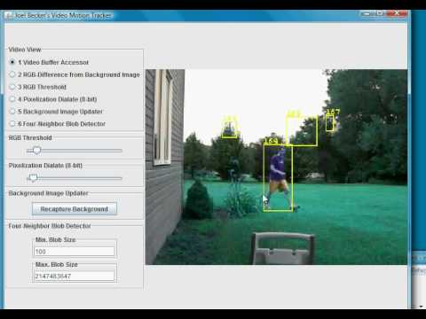 Video Motion Tracking with Java and JMF
