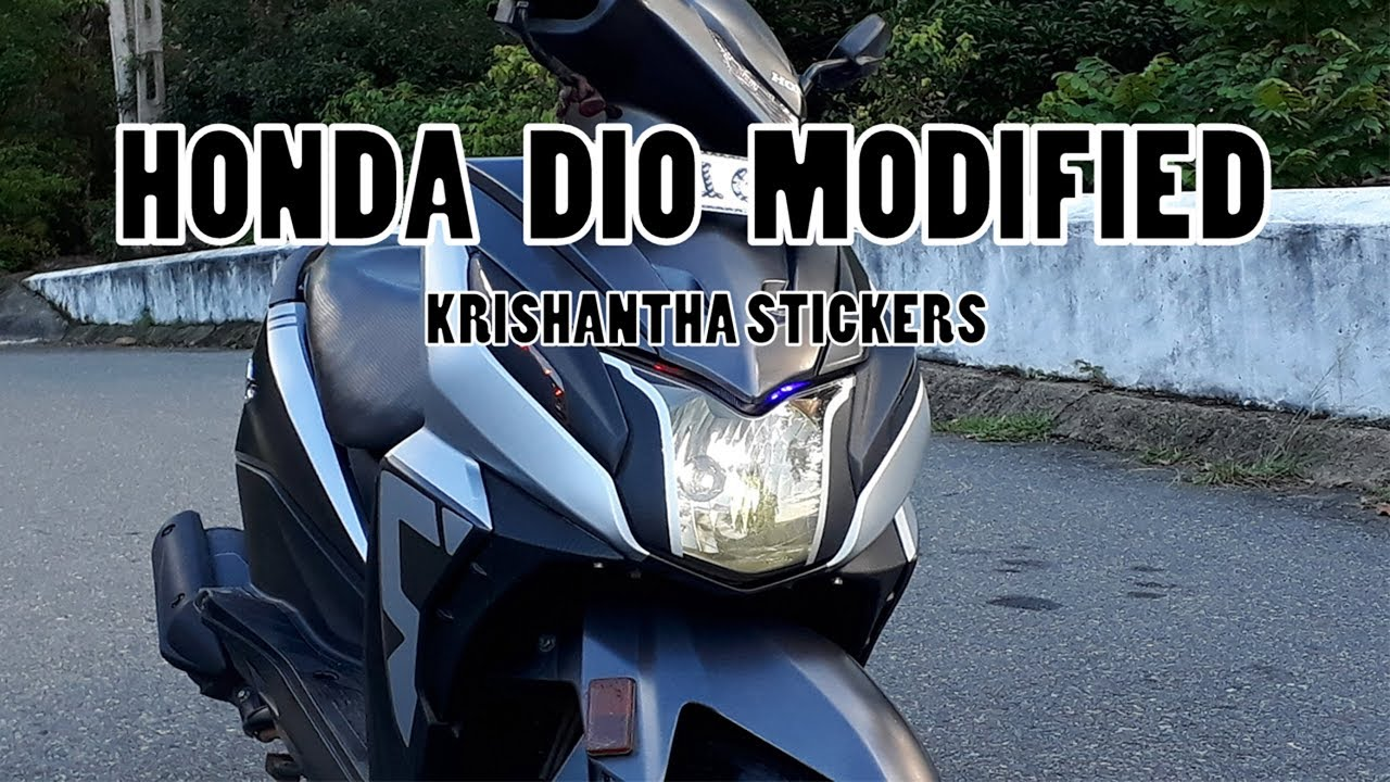 Dio modified 2018 honda dio stickering design krishantha stickers
