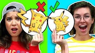 MAGIC PANCAKE ART CHALLENGE! Learn how to make Pokemon and Detective Pikachu Food Art