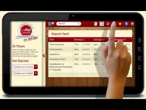 The Digi Library Tablet User Interface