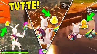 SEARCH 10 GOMMA PAPERELLE!! COMPLETE GUIDE MISSIONE PASS BATTLE FORTNITE
