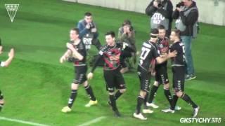 29. kolejka Nice 1 Liga: Skrót meczu GKS Tychy - Znicz Pruszków 4:1